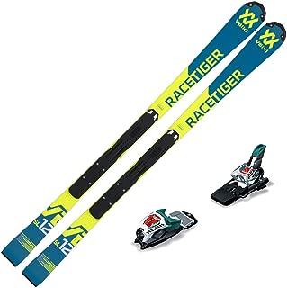 Volkl 2019 Junior Racetiger Speedwall SL R Skis w/Marker Race 10 TCX Bindings