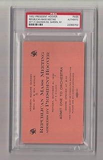 1932 Herbert Hoover Republican Mass Meeting MSG NYC Ticket/Pass PSA 22393702