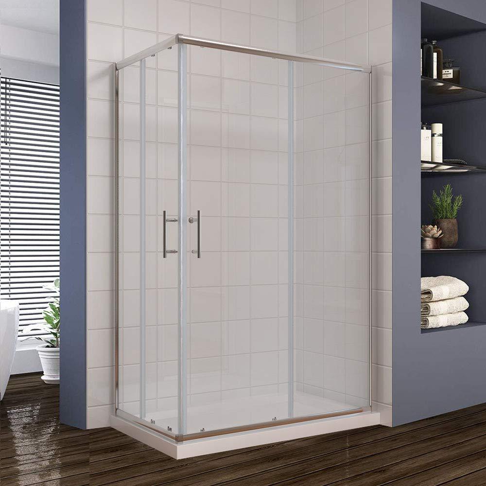 Puerta corrediza tipo cubículo de entrada para ducha en forma de ...