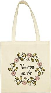 Tote Bag Nounou en Or, cadeau nounou, sac nounou, sac nounou, cadeau nounou fin d'année