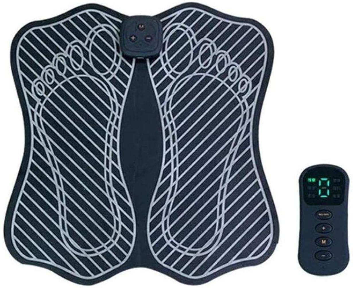 連続した階層召喚する足マッサージャー EMS フットマッサージャー 折り畳み式 パルス 電気 振動 筋肉刺激 リラックス用品 マシン ワイヤレス 足バイブレータ 理学療法 美脚トレーニング