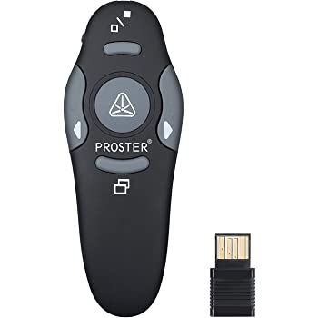 Presentatore Wireless,Presenter Wireless per Presentazione Powerpoint da 2.4Ghz USB Wireless Remote Control Professional Laser