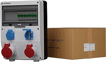 Distributore di corrente da cantiere TD-S//FI 8 X 230 V interruttore FI 25 A 30 mA 2 poli tipo A Doktorvolt 2824