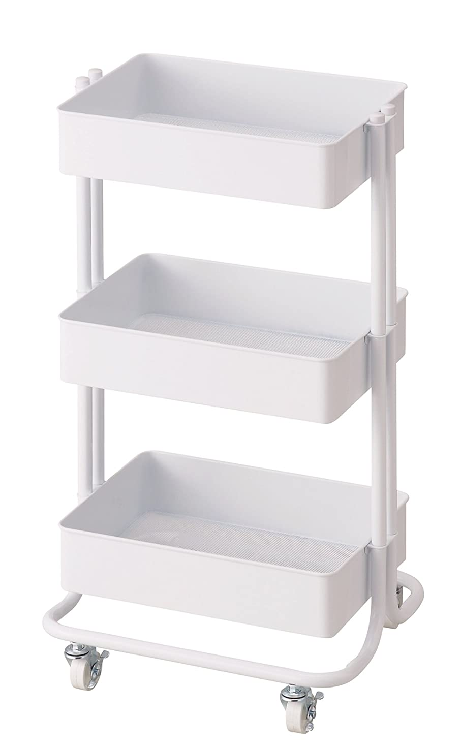固体出演者複雑でないパール金属 収納ケース?ボックス ホワイト 幅435×奥行370×高さ780mm N-8365