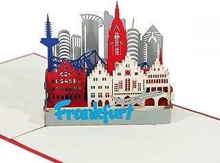 """3D KARTE""""Frankfurt"""" I Pop-Up Karte als Reise"""