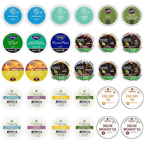 Tea Pods Variety Pack, Assorted Green Tea, Black Tea, White Tea, & Herbal Tea , Single Serve Tea Pods for Keurig K Cups Machines, 30 Count