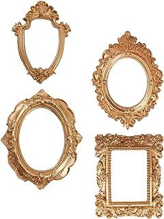 PRETYZOOM 4 cornici portafoto vintage dorate antiche da appendere alla parete, decorazione per la casa delle vacanze di Na...