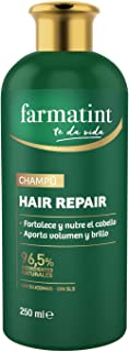 Farmatint Champú 96.5% ingredientes naturales fortalece y nutre el cabello sin siliconas sin SLS - 250 ml