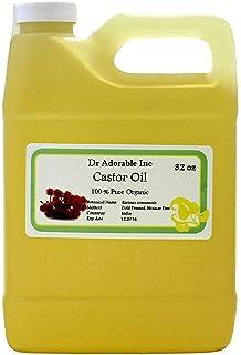 Premium Castor Oil Pure Organic Cold Pressed Virgin 32 Oz/ 1 Quart / 2 LB