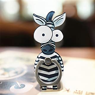VEBE Cell Phone Finger Ring Holder Cute Animal Smartphone Stand 360 Swivel for iPhone, Ipad, Samsung HTC Nokia Smartphones, Tablet (Zebra)