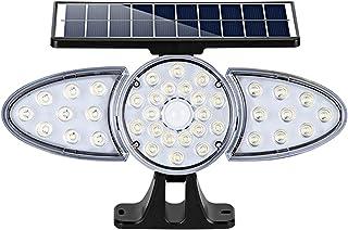 Staright Refletor solar para jardim PIR 38 Refletor solar LED Lâmpada de indução de controle de luz montada na parede IP65...