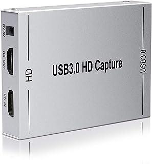 【2020最新バージョン 】ALTENG HDMI キャプチャーボード ゲームキャプチャー ビデオキャプチャー 軽量小型 USB3.0 HD1080P 60FPS PC/Switch/PS4/Xbox/PS3/携帯電話用 Windows Linux OS X対応 OBS Potplayer XSplit適用 YouTube/Twitchなどに ゲーム録画 実況 配信 ライブ会議用