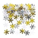 Baker Ross - Copos de nieve blancos, dorados y plateados - Perfectos para tarjetas, collages y exposiciones infantiles (por tarro)