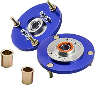 Front Adjustable Camber Plates, Coilover Top Mounts for BMW E36 318i 318is 318ic 323i 323ic 323is 325i 325is 325ic 328i 328is 328ic M3 1992-1999 (Blue)