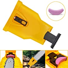 Blobabe Chainsaw Sharpener, Portable Chain Saw Blade Sharpener Chainsaw Teeth Sharpener Kit Universal Sharpening Stone Grinder Tools for 14/16/18/20 Inch Two Holes Chain Saw Bar