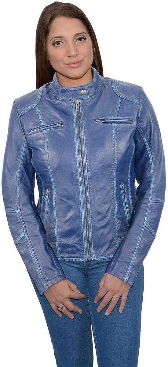 Milwaukee Leather Sale Special Price SFL2830 Aqua Women's Lea Style Sheepskin Scuba New sales