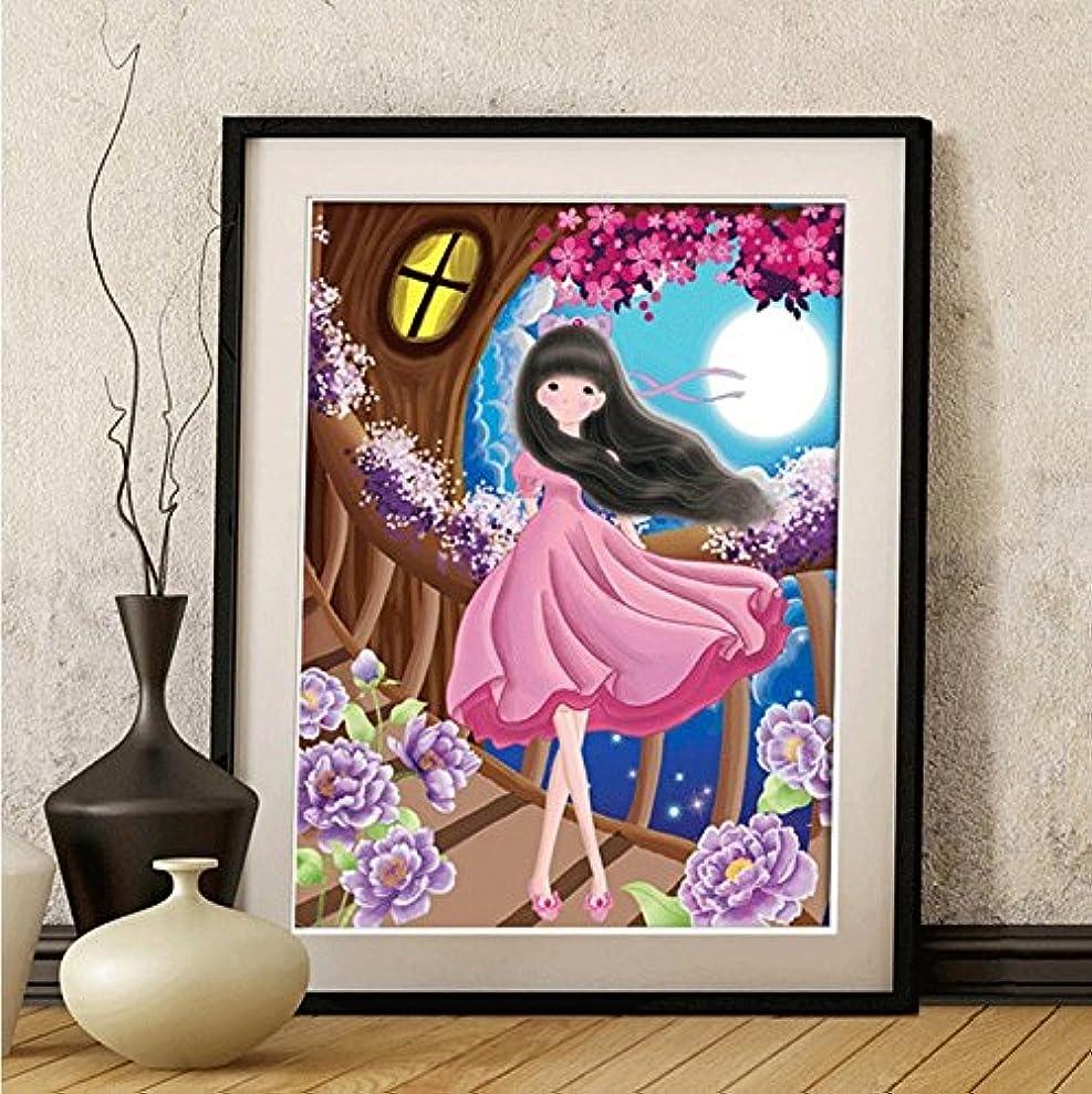 Faraway Girl Bedroom Flower Full Round DIY Diamond Painting 5D Cartoon Rhinestone Embroidery for Wall Decor 16X20inch cbzneojwr5444