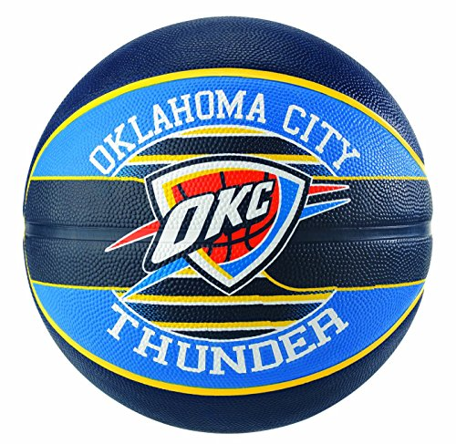 Spalding Uni Squadra NBA Oklahoma City SZ.7 (83 – 513z) Basketball, Multicolore, 7.0