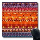 Luancrop Alfombrillas para computadoras Color Africano Diseño Abstracto Tribal Muebles marroquíes Mexicanos Perú África Diseño Azteca Alfombrilla de ratón Antideslizante para Juegos