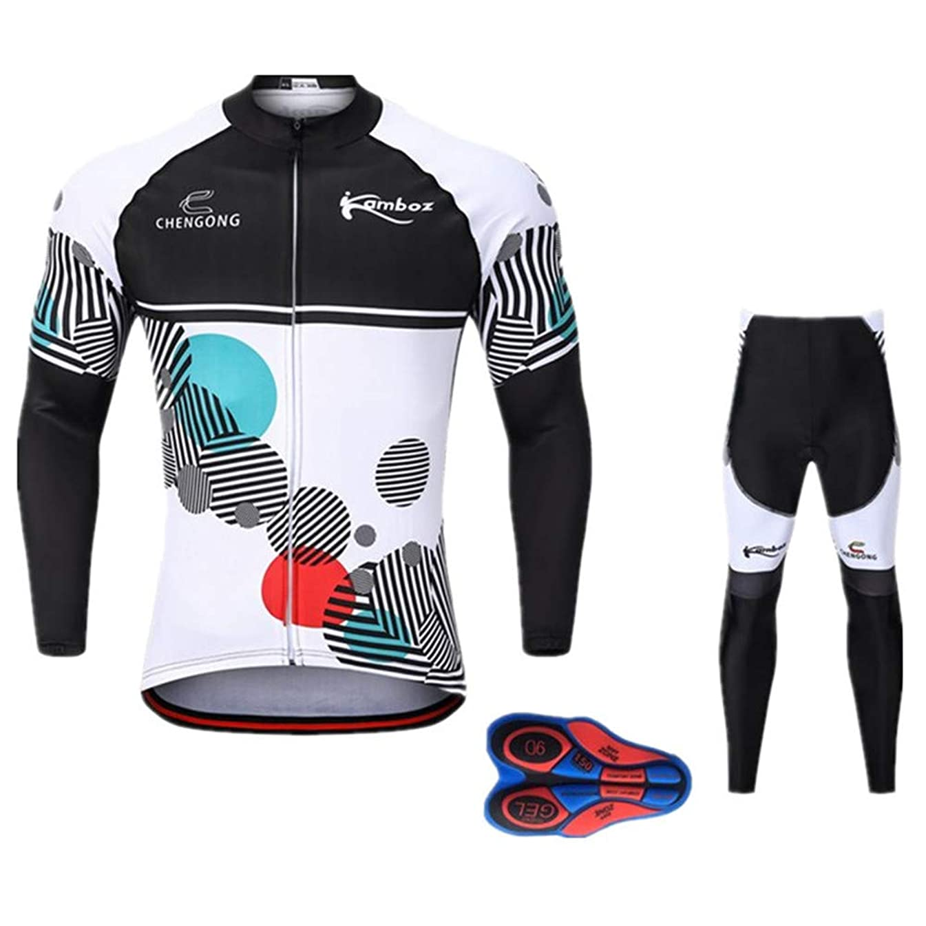 ブレスほぼ強盗サイクル ジャージ 上下セット 自転車 パンツ 長袖シャツ スポーツウェア バイク 1912MCy