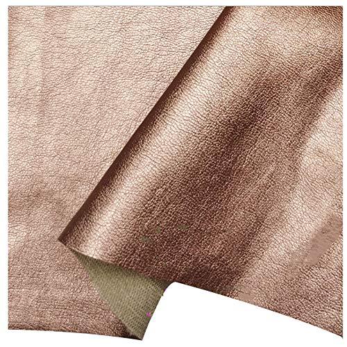 LILAMP Material de Tapicería de Piel Sintética Oro Rosa, Tela de Cuero, Tela de Sofá Suave de Grosor Medio para Coser, Manualidades, Reparación, Decoración(Size:1.4x4m,Color:Oro Rosa)