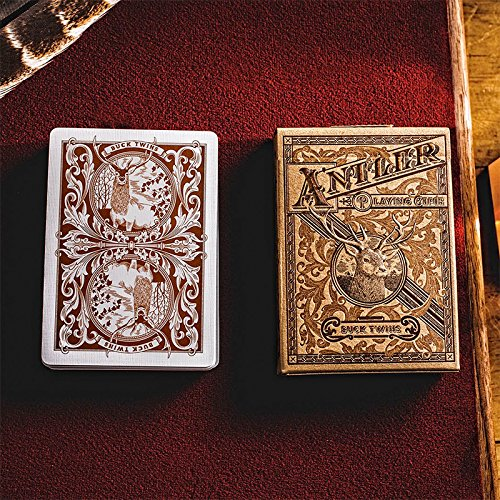 Antler Playing Cards by Dan & Dave - Tobacco Brown - Card Tricks - Trucos Magia y la Magia - Magic Tricks and Props
