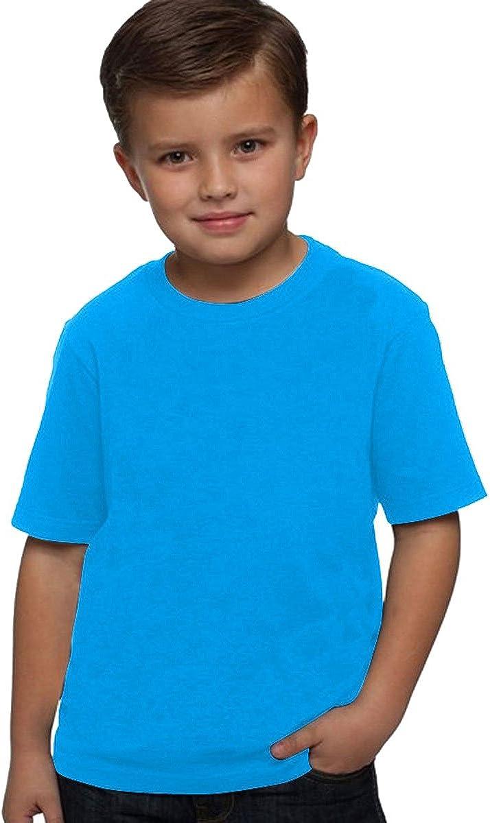 Next Level Boy's Comfort Rib Jersey T-Shirt, Turquoise, Medium (Pack of 3)