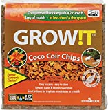 GROW!T Organic Coco Coir Planting Chips, Block