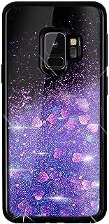 Coque Samsung Galaxy A6 Plus 2018 Glitter Strass,Portefeuille Flip Case pour Galaxy A6 Plus Housse /à Rabat Portefeuille PU Cuir Luxe Amour Paillettes /Étui de Protection avec Fente pour Carte,Or