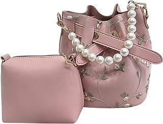 Fanspack Lady Shoulder Bag Handbag Purse Casual Crossbag Bag Satchel Bag with Clutch Bag