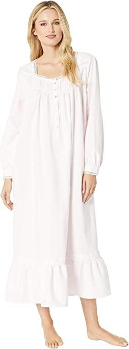 Embroidered Flannel Ballet Nightgown
