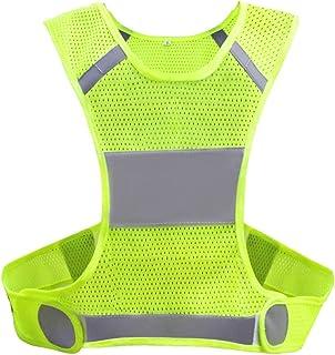Biqing Hi Vis kamizelka wysoka widoczność kamizelka Hi Viz ochronne kurtki odblaskowe sprzęt do biegania chodzenia jazdy n...