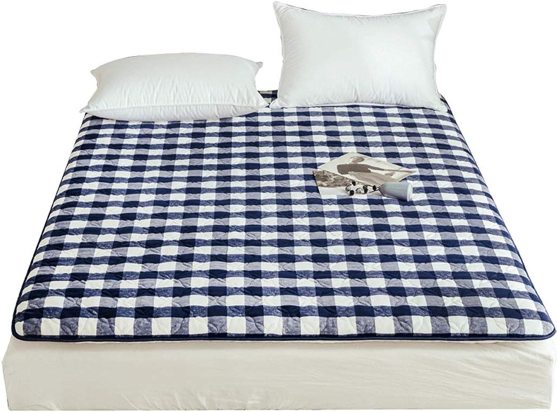 Thick Cotton Mattress, Student Dormitory Sponge Pad, Thin Anti-Slip Predection Pad, Foldable (color   A, Size   150X200cm)