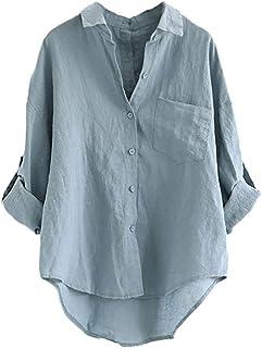 d02d032f2e Amazon.it: camicia lino - Bluse e camicie / T-shirt, top e bluse ...