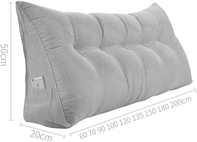 SJZLMB Cuscini Testata Letto Cuscini da Lettura Cintura Testata Cuscino Triangolo Cuscino di Base Custodia Morbida Grande Divano Posteriore Cuscino Bed Indietro