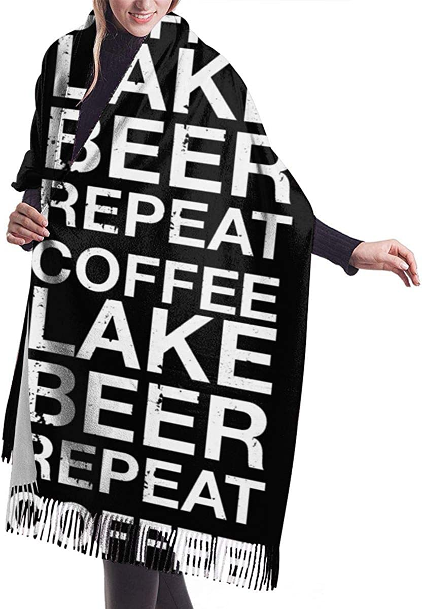 Coffee Lake Beer Repeat Winter Scarf Cashmere Scarves Stylish Shawl Wraps Blanket