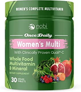 Vegan Multivitamin for Women - Women's Once Daily Whole Food Vitamin Supplement, Women Health, Natural Minerals & Extracts...