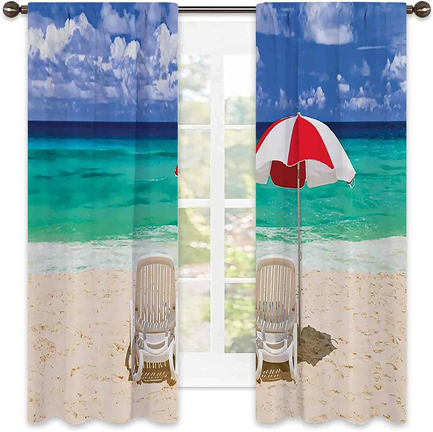 Coastal Decor Collection 90% Nature Blackout Oakland Mall Tropical Curtains 2021 spring and summer new
