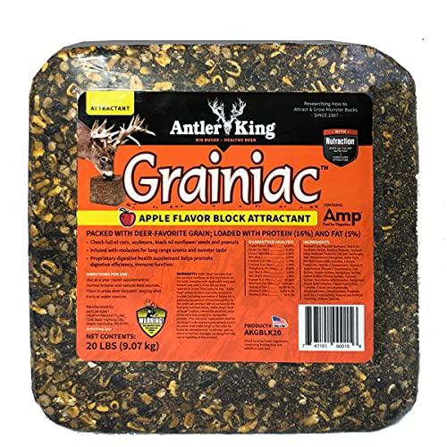Antler King Apple Flavored Grainiac Block for Deer | 20 lb Block...