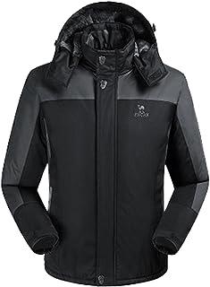 Lottaway Warm Fleece Hooded Outdoor Hiking Ski-wear Anoraks Windbreaker Jacket