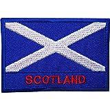 Aufnäher mit schottischer Flagge, bestickt, zum Aufbügeln oder Aufnähen, für T-Shirts, Kilt / Mantel / Tasche