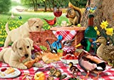 Buffalo Games - Picnic Raiders - 300 LARGE Piece Jigsaw Puzzle