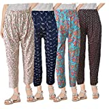 BRAND FLEX Women's Full Night Pant, Sleepwear Pant Prints May Vary (Assorted Night Pant) (Multicolour-4 Pack, XX-Large)
