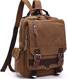 Canvas Single Shoulder Bag With Two Shoulder Bags, Men And Women Bag Messenger Bag Large Capacity Chest Bag