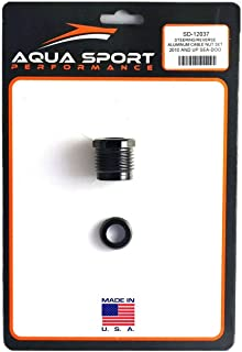 1995-1999 Sea-doo 800cc 951cc Anodized Aluminum Steering Cable Nut w/ Oem Rubber Washer