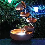 Powered Terracotta Cascade Feature Battery