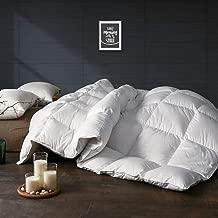 APSMILE Ultra-Soft Egyptian Cotton White Goose Down Comforter King/Optimum Warmth White