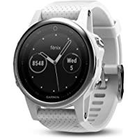 Garmin 42mm Fenix 5S White Carrara Band GPS Running Smartwatch