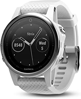 Garmin fēnix 5s, Premium and Rugged Smaller-Sized Multisport GPS Smartwatch, White