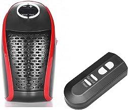 SADDPA 400W Calentador eléctrico Mini Ventilador Calentador soplador de Control Remoto domésticos de Pared Calentador montado en la Estufa radiador rápido Warmer (Plug Type : EU)